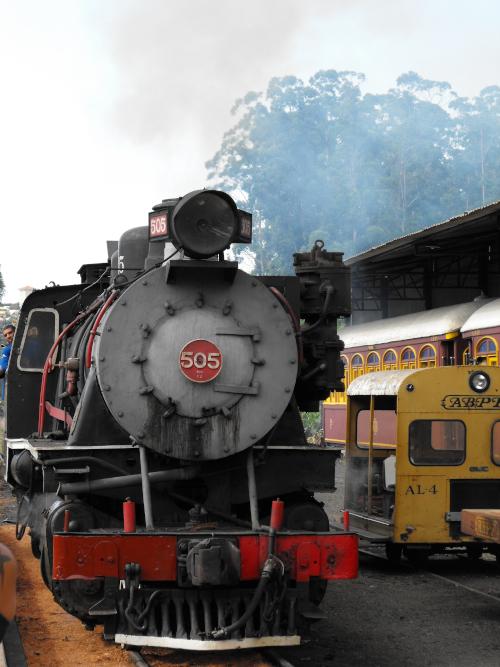 Touristic steam locomotive in Campinas